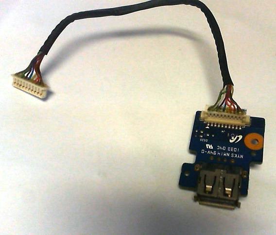 Placa Botão Power Liga Usb Notebook Samsung Rv410 Original
