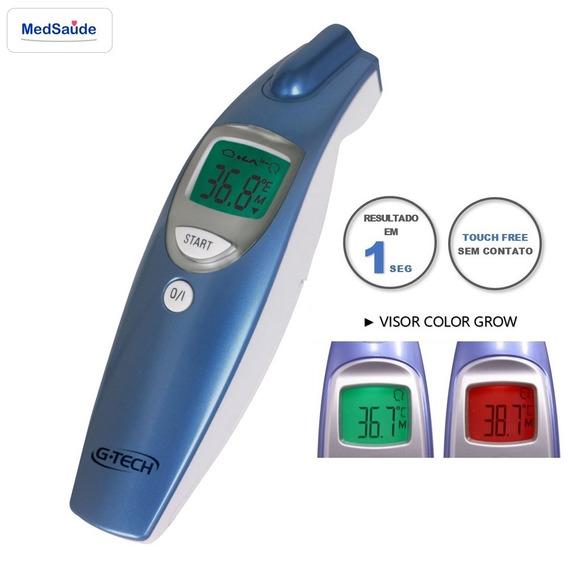 Termômetro Digital De Testa Sem Contato G-tech Azul/branco