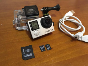 Gopro Hero 4 Silver + Sd 8gb E 4gb + Case A Prova Dágua