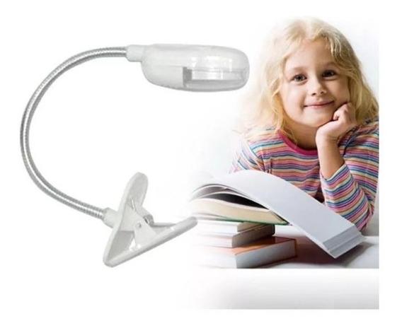 Luz Led Lectura Libro Atril Partitura Consola Flexible Clip!