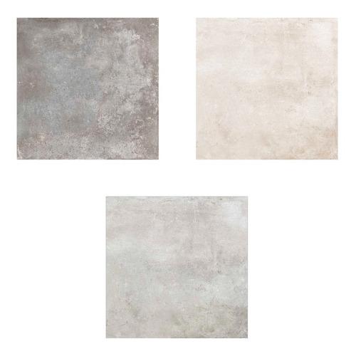 Imagen 1 de 10 de Porcelanatos De Piso Y Pared Cerro Negro Blend Simil Cemento Alisado 61x61 1ra