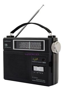 Radio Dual Winco W2004 Electrica Y Pilas 4 Bandas