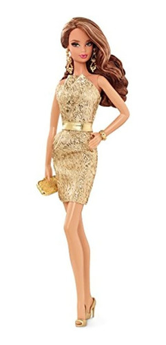 Barbie The Look Gold Dress Doll