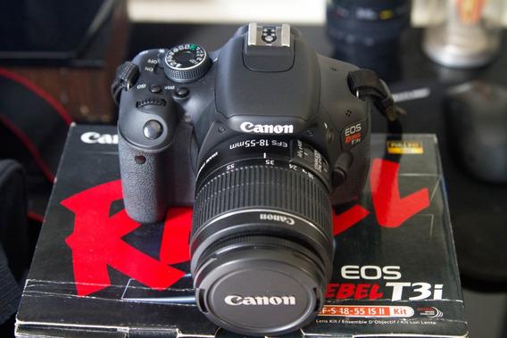 Canon T3i Com Lente 18-55mm