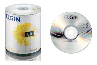 100 Cdr Elgin Tubo - Com Logo -. 52x 700mb 80min Cd-r Oferta