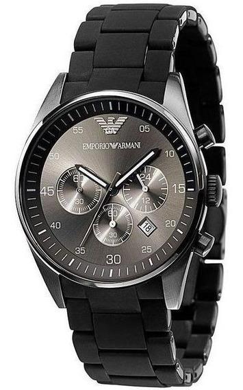 Relógio Emporio Armani Ar5889 Esporte Cronógrafo Preto