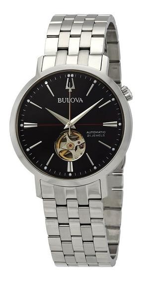 Relógio Bulova Masculino Automático 96a199 Prata Aço Oferta