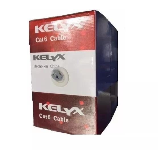 Bobina Cable Utp Cat 6 Interior Rollo 305 Mts Kelyx Profes