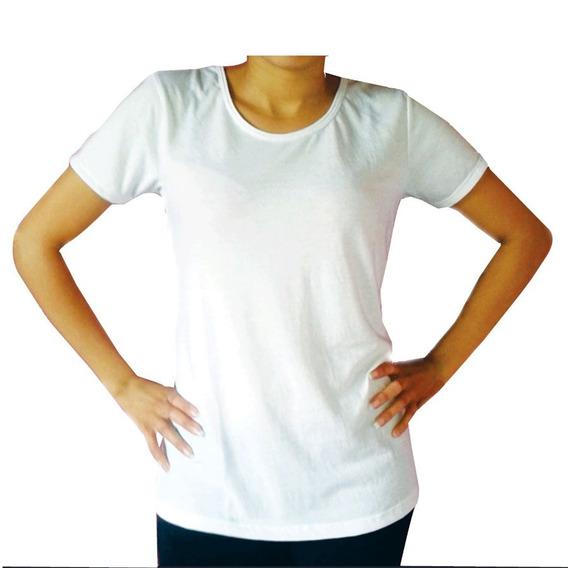 Remeras De Mujer Sublimables Talle S M L Xl X5 Unidades