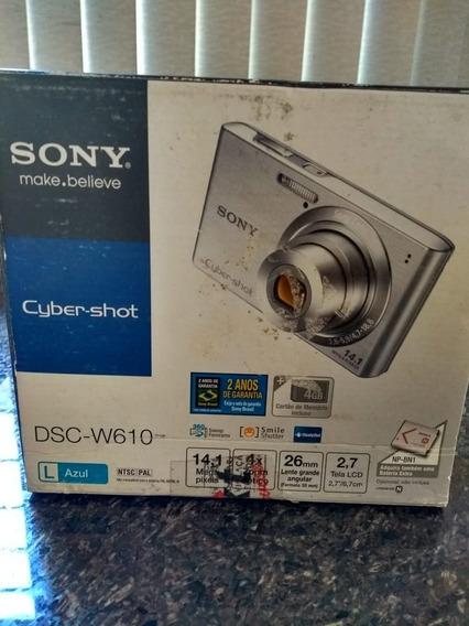 Camera Fotografica Sony Cyber Shot + Cartão De Memória
