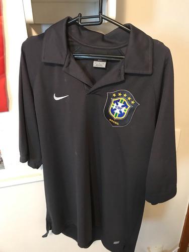 Camisa Time Futebol Nike Seleção Brasileira Comissão Técnica