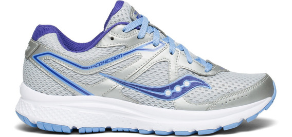 Zapatilla Saucony Running Cohesion 11 Mujer Gris/violeta
