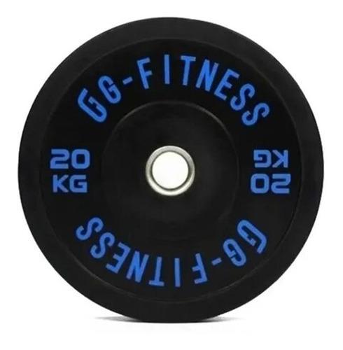 Imagen 1 de 10 de Disco Olimpico Goma Bumper 20kg X Unidad