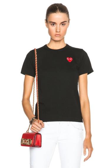 Camiseta Blusa Baby Look Play Commi Dez Garcons - Preta