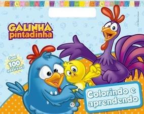 Livro Para Colorir Galinha Pintadinha Colorindo E Aprendendo