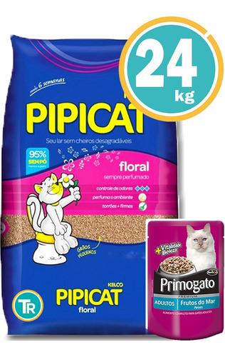 Imagen 1 de 7 de Sanitario Pipicat Floral 24 Kg + Envío  Sin Cargo