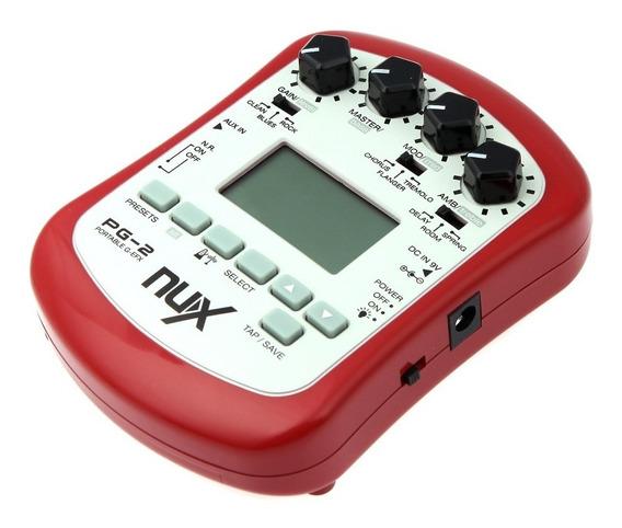 Pedal Pedaleira Para Guitarra Nux - Pg2 - Portátil