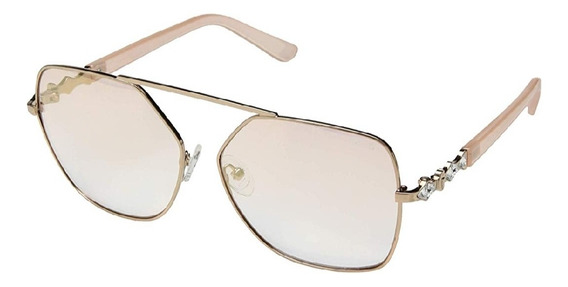 Lentes De Sol Guess Gf6073/s Rose Gold 100% Originales