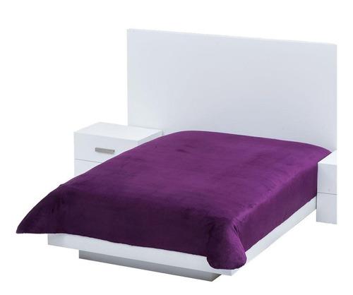 Cobertor Colchas Concord Cobertor ultrasuave Matrimonial liso/Morado