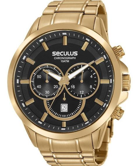 Relógio Seculus Masculino Chronograph 20617gpsvda1