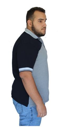 Camisa Polo Bolso Plus Size Grande Piquet G2 G3 G4 G5 G6 G7