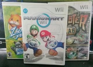 Juego Mario Kart Wii Usado + 2 Titulos Extra