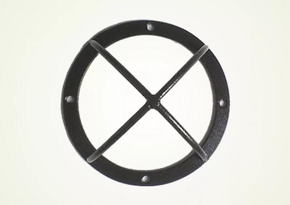 4 Grade Protetor Dome Ferro Cftv Preta Ou Branca