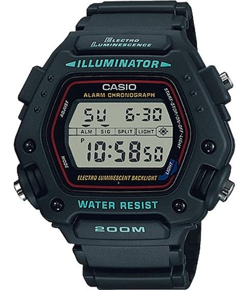 Relógio Casio Illuminator Masculino Preto Dw-290-1vs