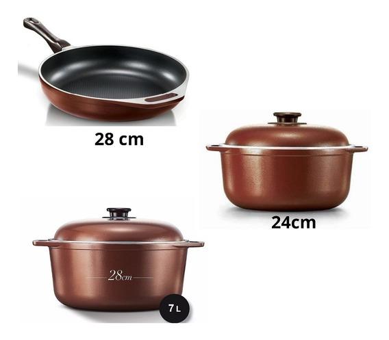 Cucina Donna Ollas Cacerola Set X 3 Batería De Cocina Mendoz