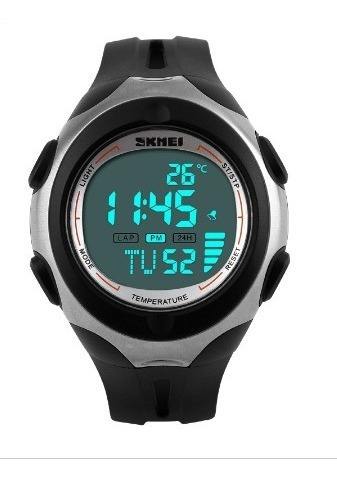 Relógio Skmei Temperatura Ambiente Led Digital Esporte