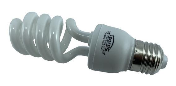 Bombillo Ahorrador Mini Espiral E27 18w 6400k Isonic