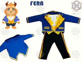 Fantasia Da Fera Infantil Luxo - Bela E A Fera