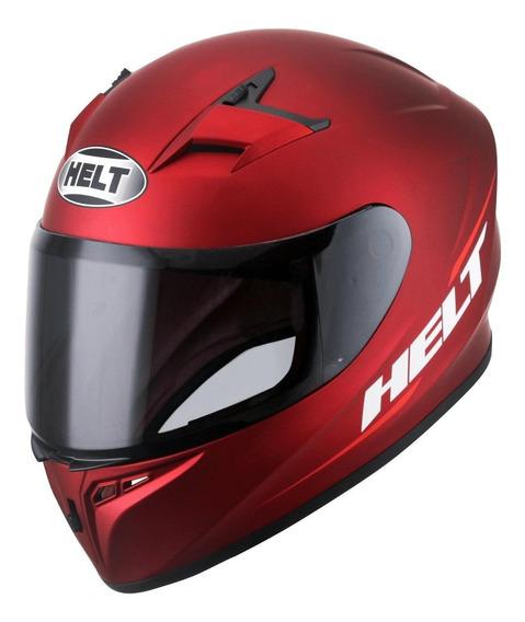 Capacete para moto integral Helt Street Polar vermelho tamanho 58