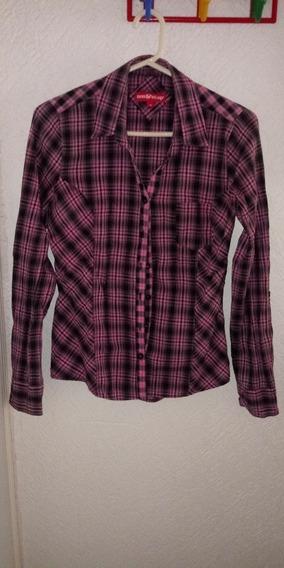 Camisa Blusa Casual A Cuadros Dama Non Stop Talla S