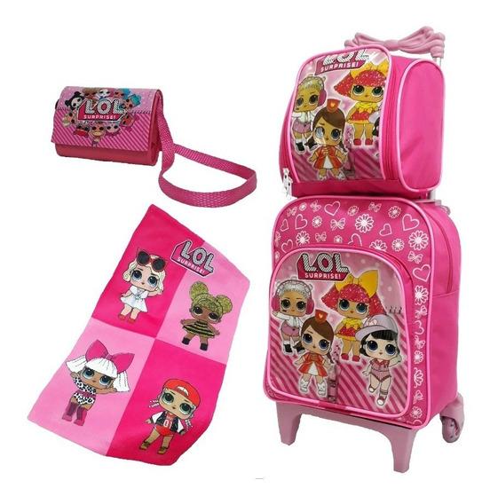 Mochila Infantil Lol Kit Escolar Criança Meninas Promoção P