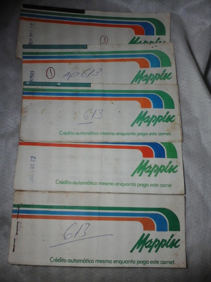 5 Carnes Crediario Automatico Mappin 1979 A 1983