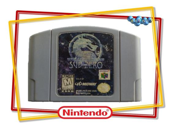 Mortal Kombat Mythologies Sub-zero Original Nintendo 64