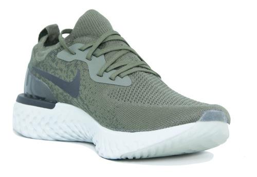 cemento Retirada Humanista  Tenis Nike Epic React Verde Olivo Para Hombre Con Caja | Mercado Libre