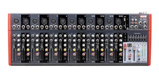 Consola De Sonido Mixer Novik Nvk-1602fx 16 Canales 101db