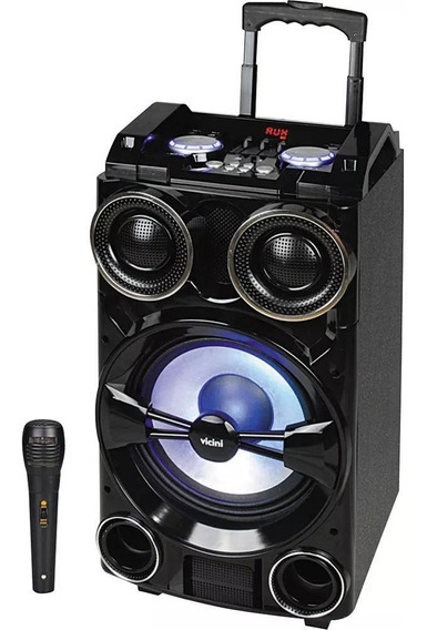 Caixa De Som Bluetooth Fm Música Usb 300w Rms Bateria Recarregável