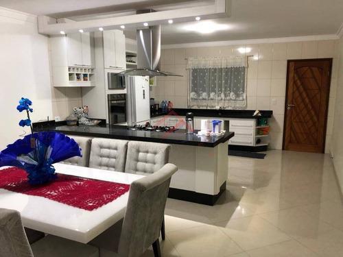 Imagem 1 de 15 de Sobrado Com 3 Dormitórios À Venda, 225 M² Por R$ 680.000,00 - Jardim Itapeva - Mauá/sp - So0014