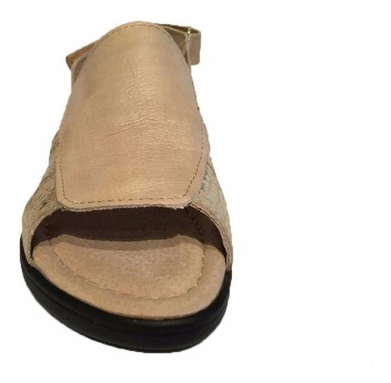 Sandalia De Cuero Con Abrojo Febo Calzadoshangar18