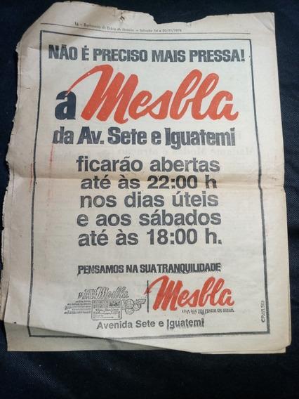 Jornal Antigo Com Propaganda Das Lojas Mesbla