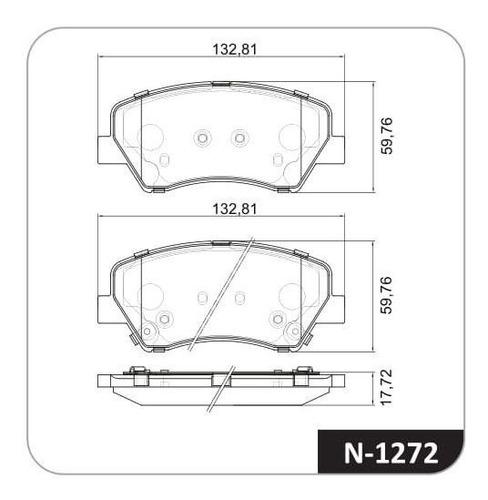 Juego Pastillas Freno X 4 Hyundai I30 14/19