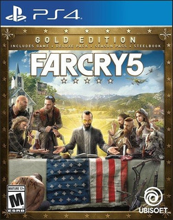 Ps4 Far Cry 5 Steel Book Gold Edition