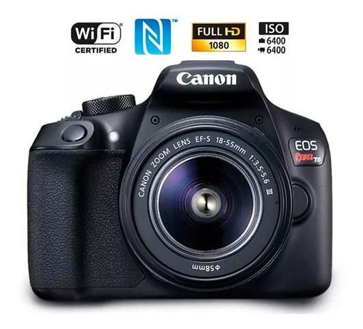 Câmera Canon T6 18-55 Ill + Cartao 32gb Classe 10