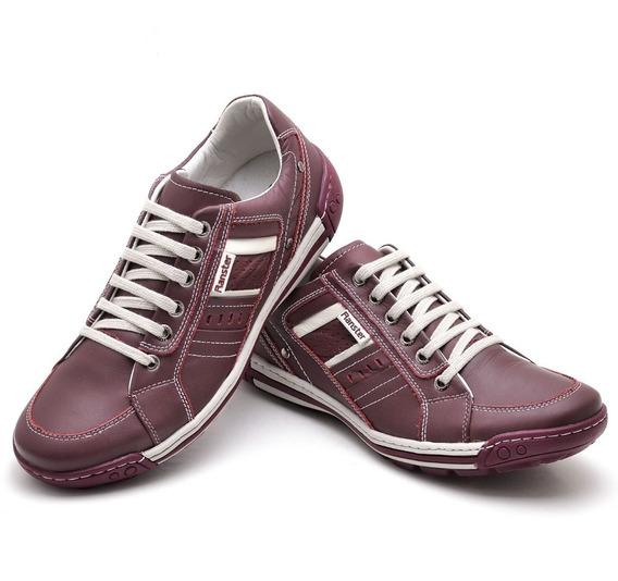 Sapato Tenis Couro Masculino Confot Flex Resistente
