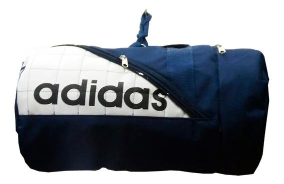 Bolsa Grande,academia, Camping Azul Com Branco