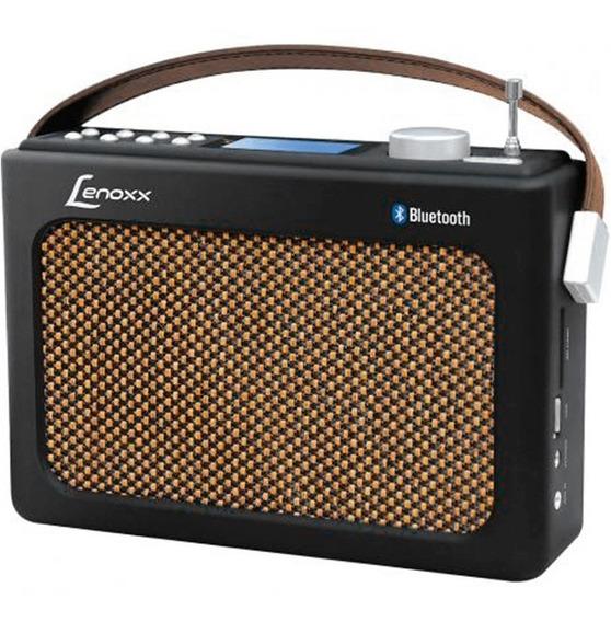 Radio Fm Retrô Preto Usb Aux Sd Bluetooth Rb90 Lenoxx