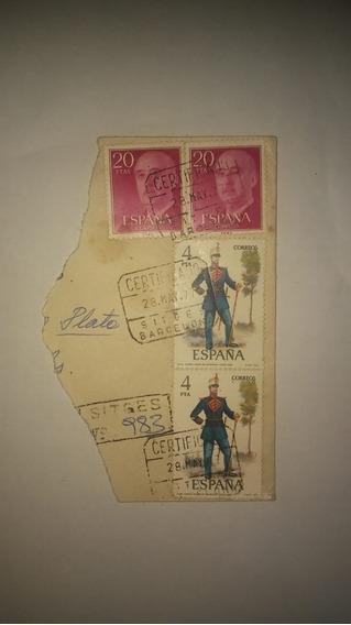 Sellos Postales España 1977 (4 Pecetas Y 20 Pecetas)